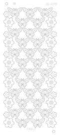 Find it CD 3078 Butterflies Platinum zilver