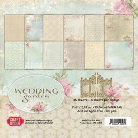 Craft&You Wedding Garden Small Paper Pad 6x6 36 vel CPB-WG15 117020/0715