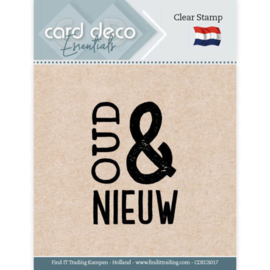 Card Deco Essentials - Clear Stamps - Oud & Nieuw  CDECS017