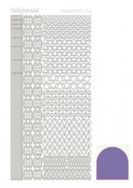 Hobbydots sticker Mirror violet 012 STDM126