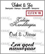Crealies Clearstamp Tekst&Zo Kerst 18 (NL) CLTZK18 130505/2018