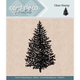 Card Deco Essentials - Clear Stamps - Christmas Tree CDECS071