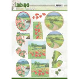 3D knipvel - Jeanine's Art - Landscapes - Summer Landscapes CD11171