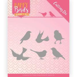 Snijmal \- Jeanine's Art - Happy Birds - Vroljke vogels JAD10090