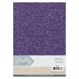 Card Deco Essentials Glitter Paper Dark Purple CDEGP001