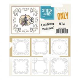 Stitch & Do - Cards Only - 4k - Set 4 COSTDO10004