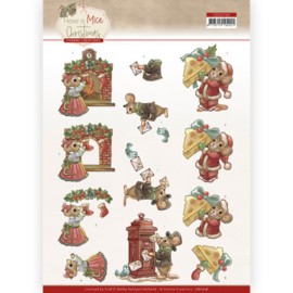 3D Cutting Sheet - Yvonne Creations - Have a Mice Christmas - Sending Christmas Cards CD11716
