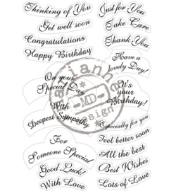MD Cling Stamp - Best Wishes CS0916