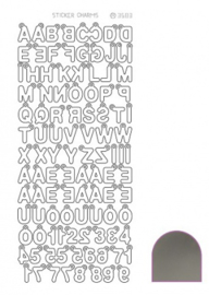Sticker Charm ABC - Mirror Silver STCH028