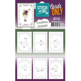 Cards only Stitch A6  COSTDOA610001
