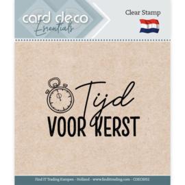 Card Deco Essentials - Clear Stamps - Tijd voor Kerst CDECS052