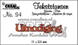 Crealies Tekststans - uitnodiging 11 x 54 mm / CLTS34