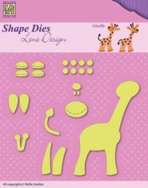 Shape Dies - Lene Design - Baby serie - Build-up giraffe SDL030