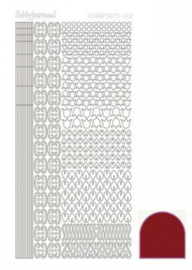 Hobbydots sticker Mirror Red 012 STDM124