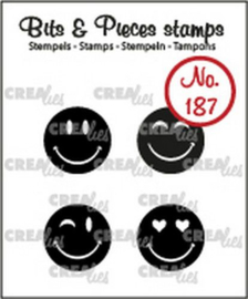 Crealies Clearstamp Bits & Pieces Happy faces solid CLBP187 4x15mm  130505/1187