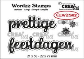 Crealies Clearstamp Wordzz prettige feestdagen (NL) CLWZS02 22x79 mm