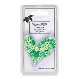 Capsule Polka Mini Buttons (60pcs) - Chelsea Green