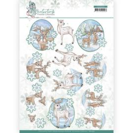 3D cutting sheet - Yvonne Creations - Winter Time - Deer CD11573