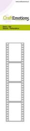 CraftEmotions Die - Cutting border - film strip Card 5,0x21,5cm  115633/0707