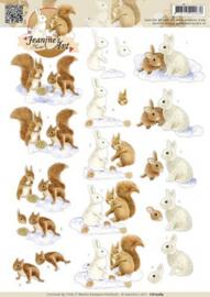 3D Knipvel - Jeanines Art - Snow Animals CD10584
