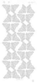 Find it CD 3077 Butterflies Large Platinum goud