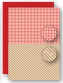 Background sheets doublesided Christmas red lines NEVA062