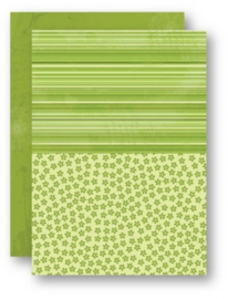 Doublesided background sheets A4 green flowers NEVA030