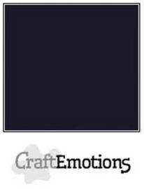 CraftEmotions karton glad 10 vel zwart SC-58 A4 250gr 000232/1350