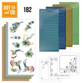 Dot and Do 182 - Precious Marieke - Blue Flowers DODO182