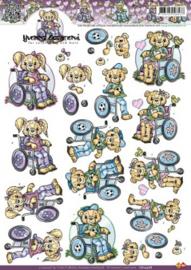 3D Knipvel Yvonne Creations - CD10368 Rolstoel