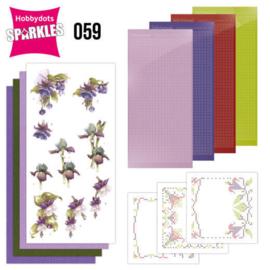 Sparkles Set 59 - Precious Marieke - Purple Flowers SPDO059