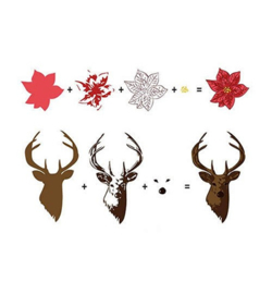 Nellie 3D clear stamps Reindeer HS3DS005