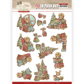 3D Push Out - Yvonne Creations - Have a Mice Christmas - Decorating SB10583