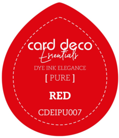 Card Deco Essentials Fade-Resistant Dye Ink Red CDEIPU007