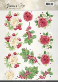 3D Knipvel - Jeanines Art - Christmas Classics - Rose CD10884