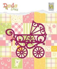 Nellies Choice DADA Baby Die - kinderwagen DDD002 7,3 x 6,6 cm