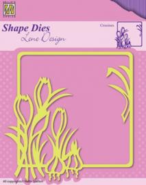 Nellie Snellen Shape Dies - Spring flowers Crocuses SDL016