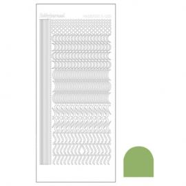 Hobbydots sticker - Mirror Lime 020 STDM20C
