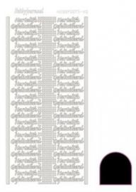 Hobby dots sticker Hartelijk Gefeliciteerd Adhesive zwart STDAHG03