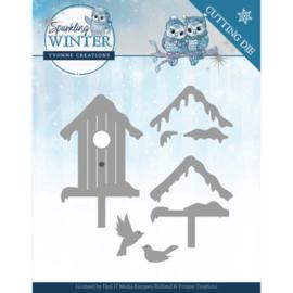 Dies - Yvonne Creations - Sparkling Winter - Winter Birdhouse YCD10190