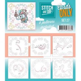 Stitch & Do - Cards only - 4k -  Set 27 COSTDO10027