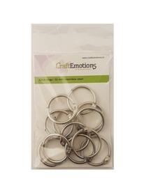 CraftEmotions Klik ringen / boekbindersringen 32mm 12 st. 430603/3432