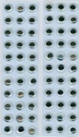 Wiebelogen zelfklev. rond zwart wit 10 mm 66 ST 802603/1933