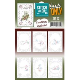 Cards only Stitch A6  COSTDOA610002