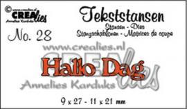 Crealies tekststans - hallo dag (NL) CLTS28 115634/3128
