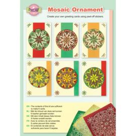 Mosaic ornament diamond bright colours 3.9417