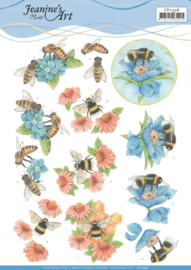 3D Cutting Sheet - Jeanine's Art - Bees and Flowers CD11335