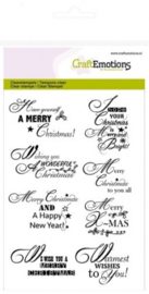 CraftEmotions clearstamps A6 - tekst ENG Christmas wishes 130501/1158