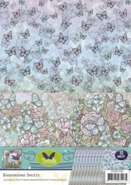 Background sheets - Yvonne Creations - Butterfly Collection SETBGS10006