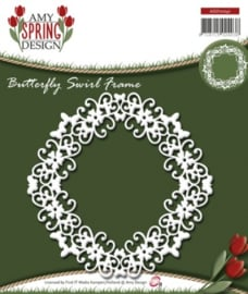 Die - Amy Design - Spring - Butterfly Swirl Frame ADD10041